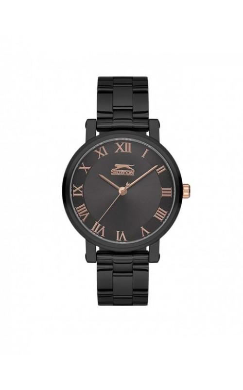SLAZENGER Ladies Black Stainless Steel Bracelet SL.09.6145.3.02