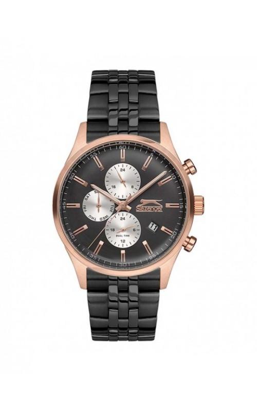 SLAZENGER Black Stainless Steel Bracelet SL.09.6160.2.03