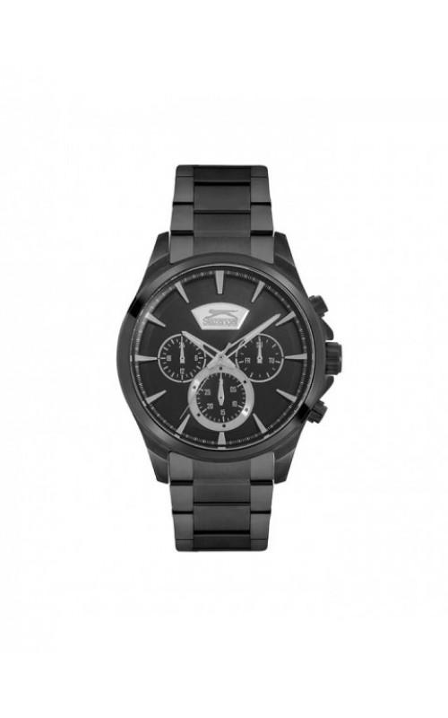 SLAZENGER Multifunction Black Stainless Steel Bracelet SL.09.6192.2.04