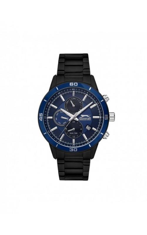 SLAZENGER Multifunction Black Stainless Steel Bracelet SL.09.6198.2.03