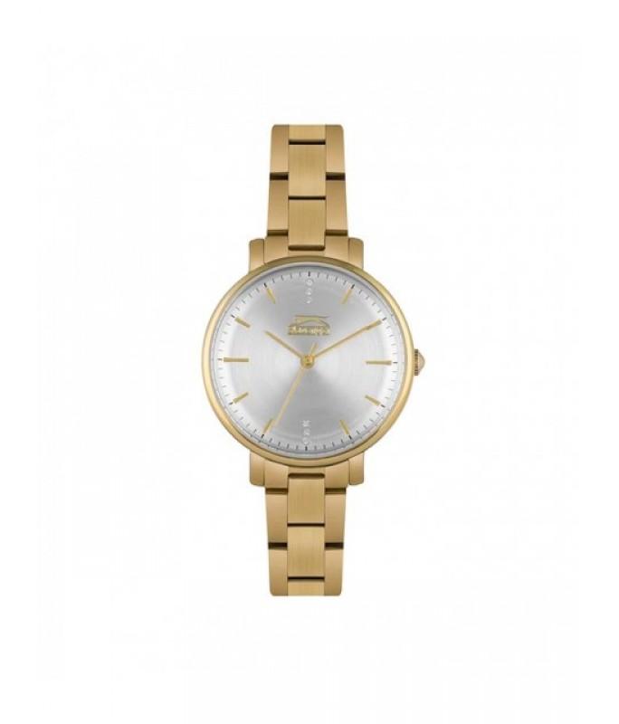 SLAZENGER Ladies Crystals Gold Stainless Steel Bracelet SL.09.6226.3.03