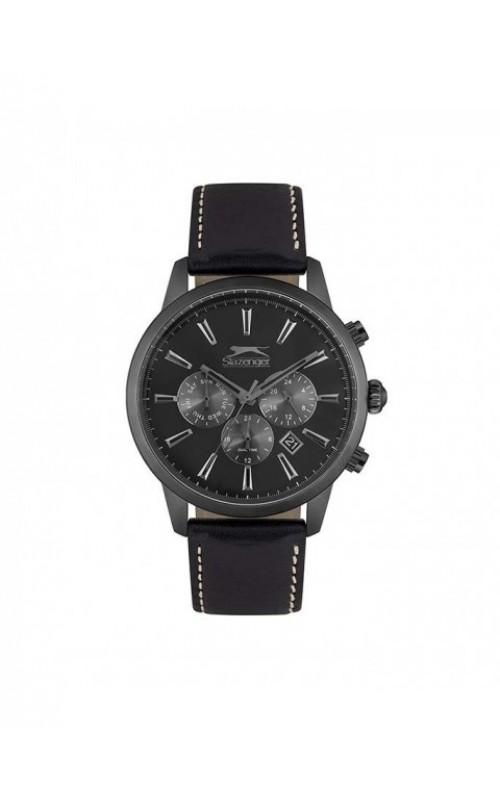 SLAZENGER Black Leather Strap SL.09.6271.2.04