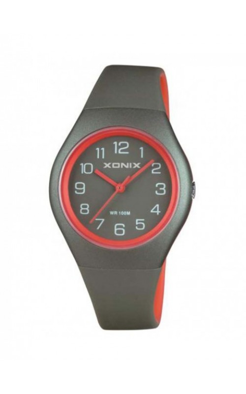 XONIX Grey-Red PU Strap PJ-005