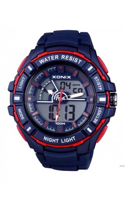 XONIX Chronograph Blue Silicone Strap VB-003
