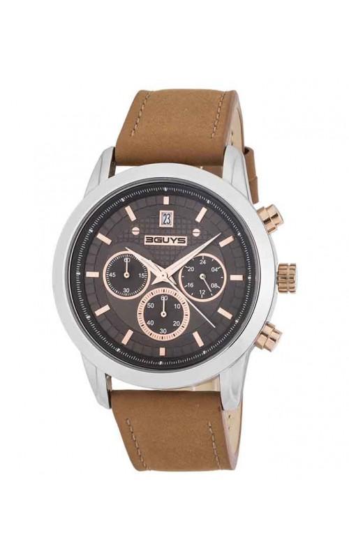 Ρολόι Χειρός 3GUYS 3G31101 Brown Leather Chronograph