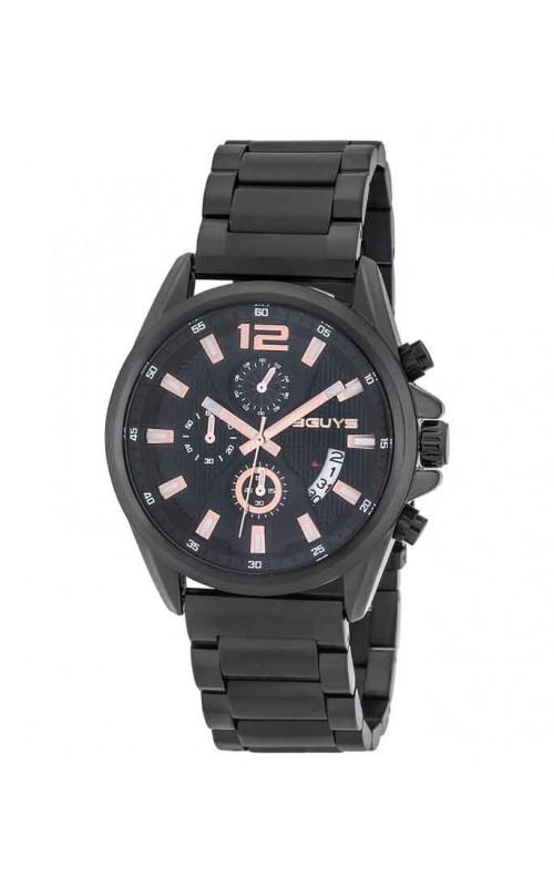 Ρολόι Χειρός 3GUYS 3G49024 Stainless Steel Black Bracelet Chronograph