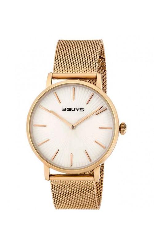 Ρολόι Χειρός 3GUYS 3G67504 Gold Stainless Steel Bracelet