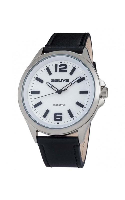 Ρολόι Χειρός 3GUYS 3G89001 Brown Leather Strap