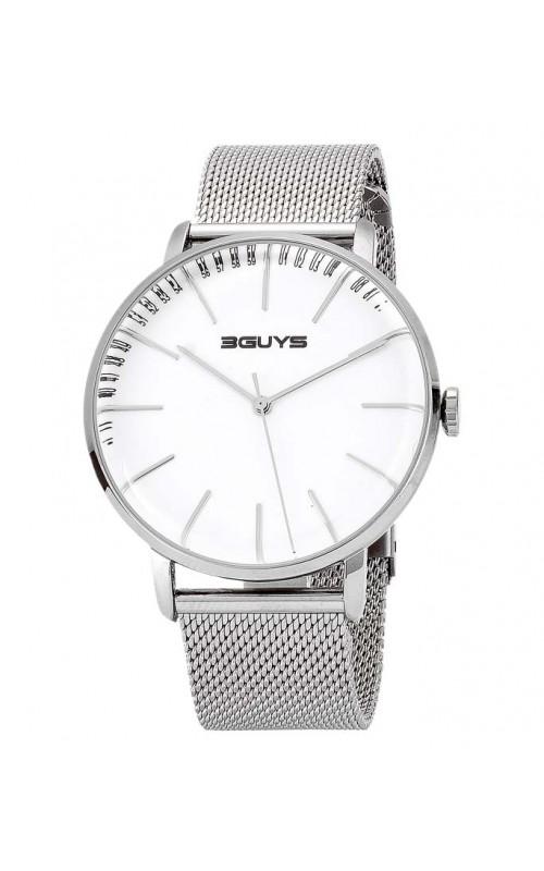 Ρολόι Χειρός 3GUYS 3G97027 Mens Silver Stainless Steel Bracelet