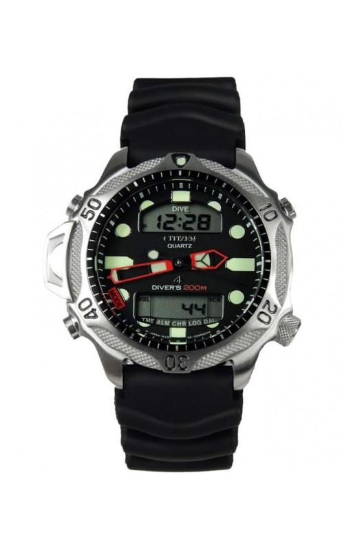 Ρολόι Χειρός CITIZEN JP1010-00E Promaster Aqualand Divers Καταδυτικό Μαύρο Λουρί Καουτσούκ