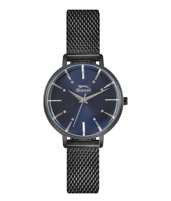 Ρολόι Χειρός SLAZENGER SL.09.6203.3.03 Ladies Crystals Black Stainless Steel Bracelet SLAZENGER